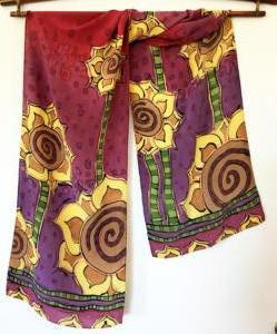Sunny Flowers crepe scarf